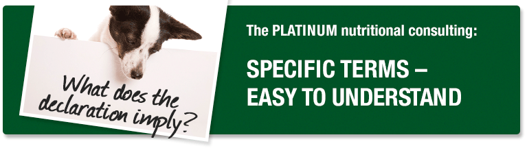 PLATINUM Nutritional Consulting - specific terms - easy to understand