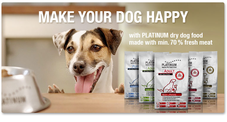 PLATINUM dry dog food - a real alternative to conventional dry dog food