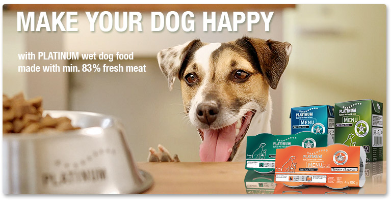 PLATINUM wet dog food - a real alternative to conventional wet dog food