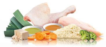 Ingredients for PLATINUM wet dog food MENU Chicken